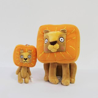 Mi Ge said square lion fluffy doll + charm combination