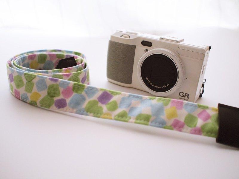 hairmo方塊糖相機背帶/手腕帶-粉(相機/手機/證件)