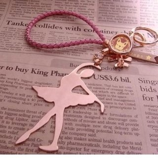 Oops One-Handed Ballerina Bag Charm / Keychain - Christmas Gifts -