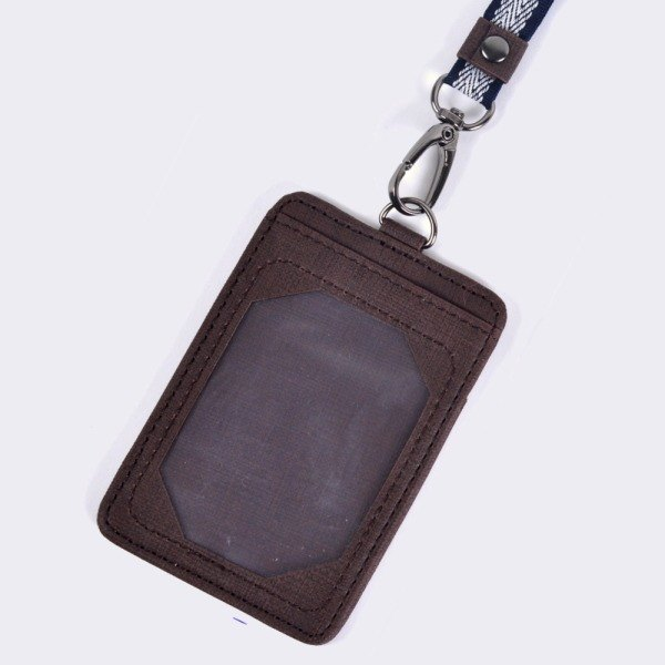 "[Dogyball] ""simple small things"" value-for-money practical simple and stylish detachable identification card brown"