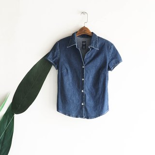 GAP indigo soft cloth comfortable autumn marine antique cotton denim shirt jacket coat shirt