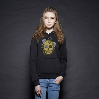 British Fashion Brand [Baker Street] Blue Rose & Skull  Printed Hoodie