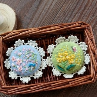 [Spring flowers] Department of Forestry fresh handmade embroidery brooch handmade cloth