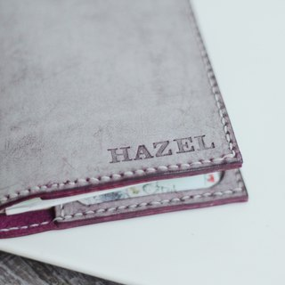 Make Your Choicesss Italian leather minimalist purple Passport Case