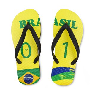 QWQ creative design flip-flops - Brazil - men's [limited]