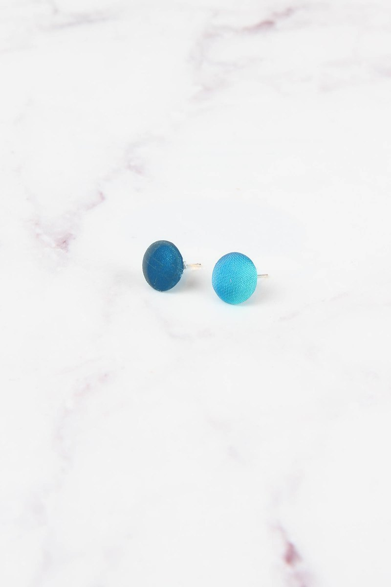 Cosmic Series Reflective Earrings - Uranus
