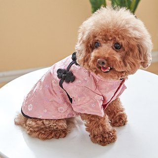 Pet clothes cheongsam classic Chinese style (pink)