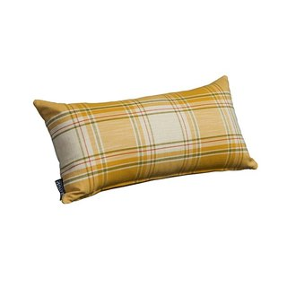 fabric. Plaid lumbar pillow (3 in) - [love door]