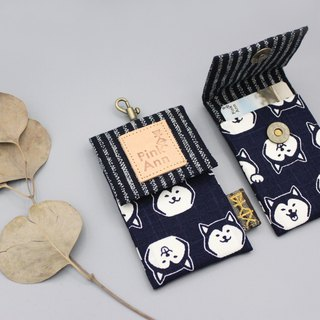 Peace classic card package - Shiba Inu (dark blue striped) business card package, leisure card package directly through the card