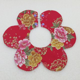 Rich flowers blooming flower pocket / baby bibs / bibs