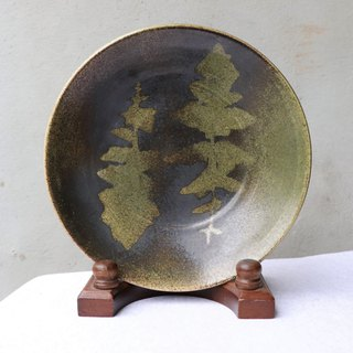 Sen bath leaf pattern plate