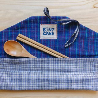 Brut Cake - Envelope Handmade Textile Ancient Cloth Reel Environmental Cutlery Set (9)
