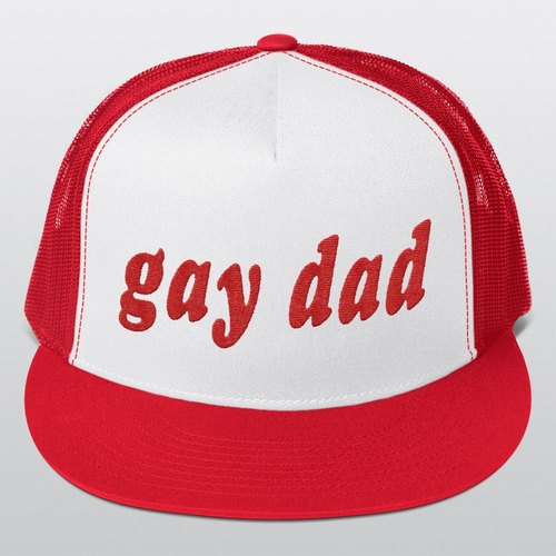 Trucker Cap, Gay Dad, Gay, Gay Wedding, Baseball Cap, Gay Cap, Gift for Him, Gay Gifts, Gay Trucker Cap, Pride, Cap, Caps