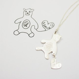 Children's painting accessories / love bear necklace