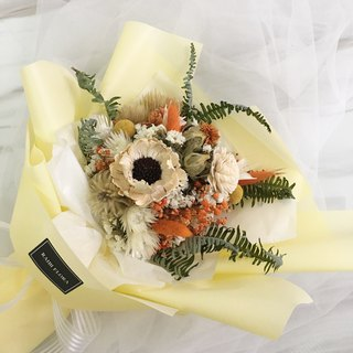 Warm yang wind orange dry flower bouquet