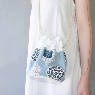 Side bucket bag _ Nordic small flower field