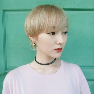 Marygo ﹝ ﹞ fresh and colorful transparent round pearl earrings