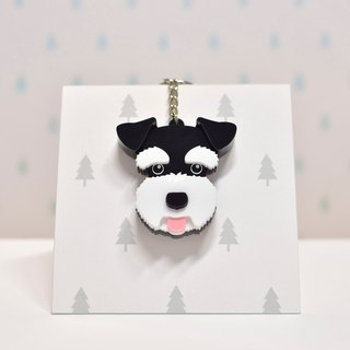 Schnauzer (black) - key ring acrylic