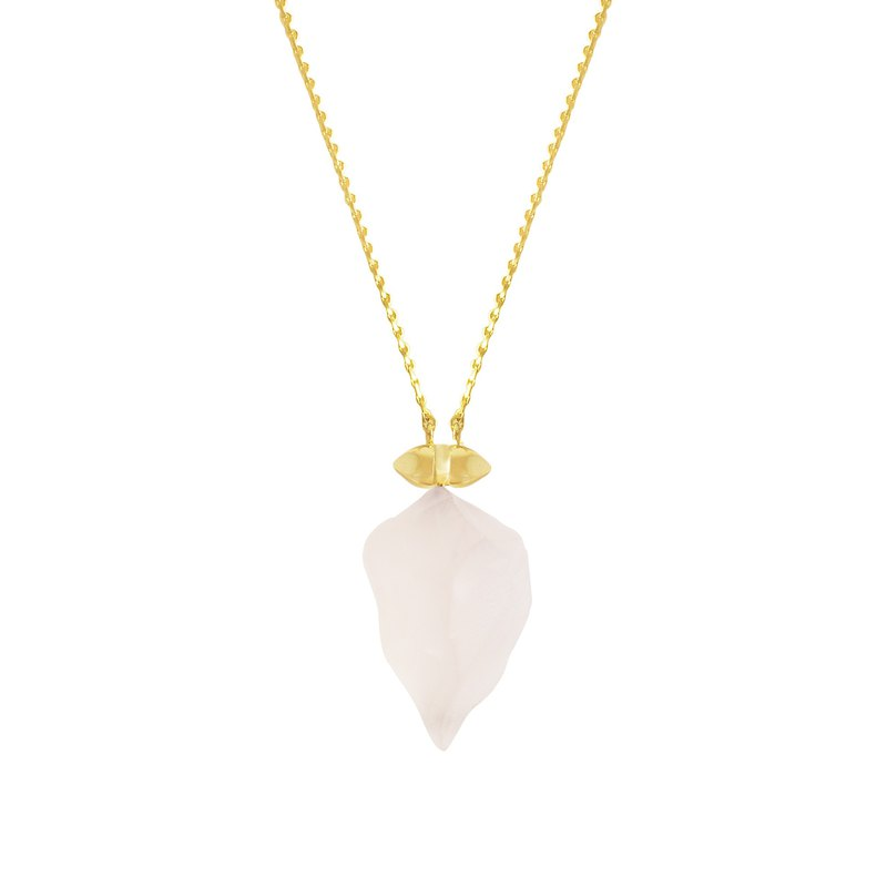 ROSE QUARTZ small universe rose quartz necklace