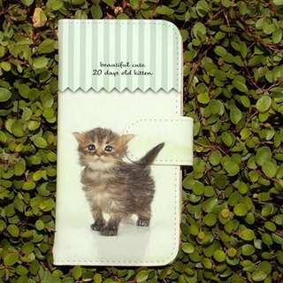 【All models compatible】 Free shipping 【Handbook type】 Cute kittens illustration on 20th birth smart case