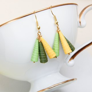 Tri-color awl basic earrings (multicolor optional)