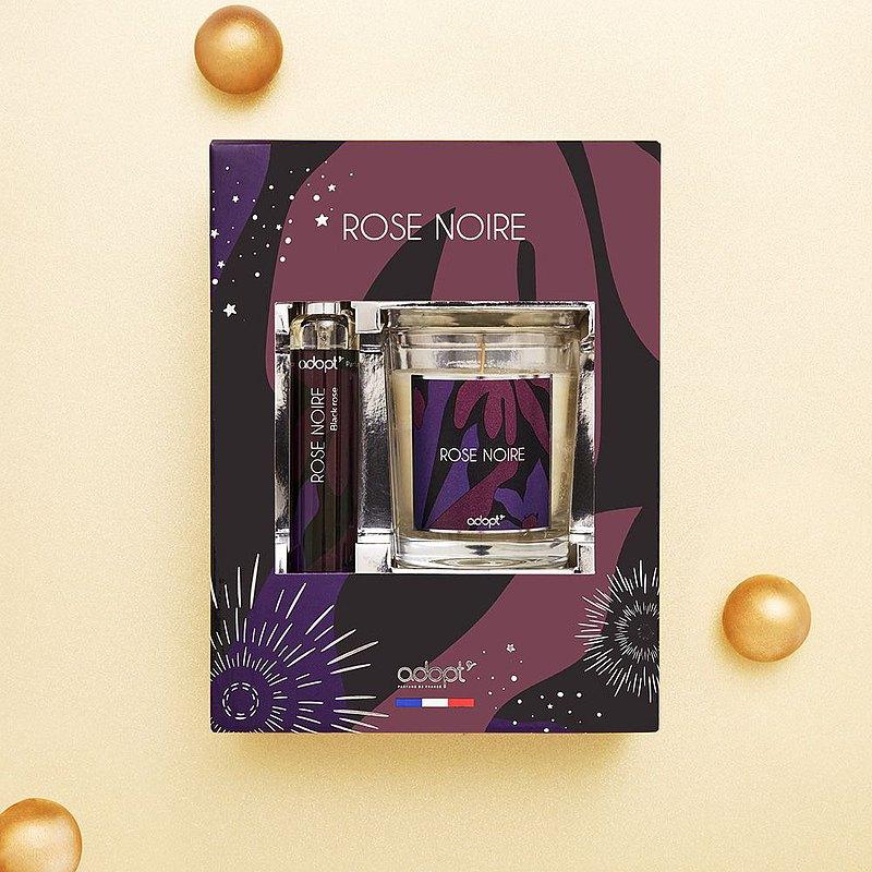 【母親節禮物】黑玫瑰 香水蠟燭禮盒 (淡香精30ml + 精油蠟燭100g