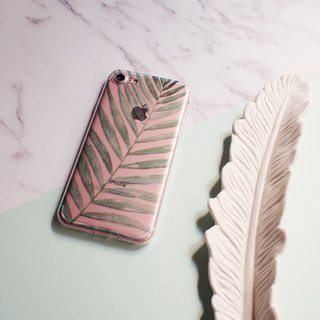 Bamboo Palm, Clear Soft Phone Case, iPhone X, iphone 8, iPhone 7, iPhone 7 plus, iPhone 6, iPhone SE, Samsung