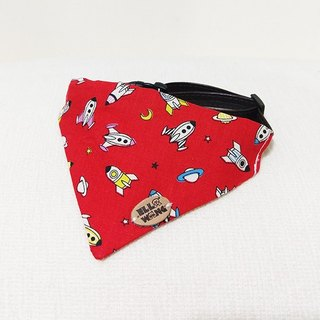 Ella Wang Design Scarf Pet Red Rocket Manner Alien Scarf Cat and Dog