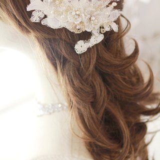 Lace bridal headdress, bridal, white headpiece, vintage headpiece