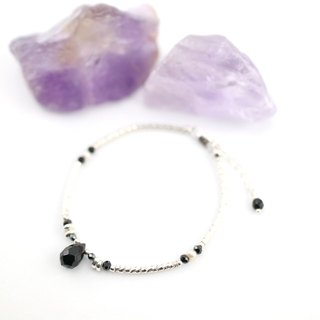 [ColorDay] Dazzling ~ _ black onyx natural pearl sterling silver bracelets <Onyx_Pearl Silver Bracelet>
