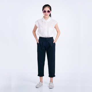Cropped Pant Dark Blue