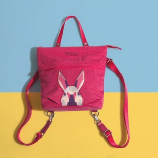 Khieng Atelier after Diamond Diamond Rabbit Rabbit sketch backpack - love powder