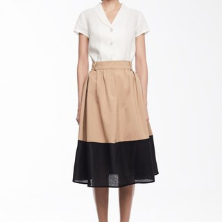 Olivia High Waisted Pleated Skirt