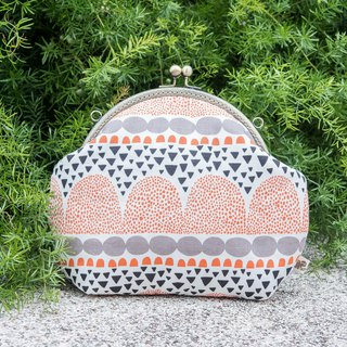 [shredded paper mosaic] (white) retro metal mouth gold bag - big section #随包# cute #斜袋