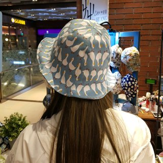 Tulip flower hat - ukiyoe Mt. Fuji mix wave ash cloth flower order