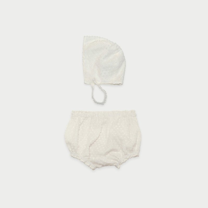 Textured Bonnet & Bloomer Set
