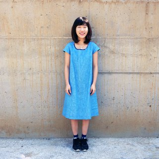 Zhuo also blue dyed - blue dyed ramie small dress