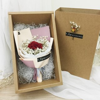 //I love Mommy // Thanksgiving Mother's Day Eternal Flower Carnation Pink Powder Dry Handmade Bouquet/Mother's Day Bouquet Gift Bouquet