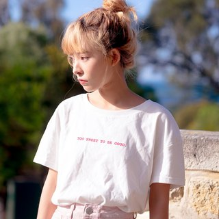 OTHERCOLOR 18SS Don't be too sweet letter slogan fall shoulder short sleeve tricolor tide girl
