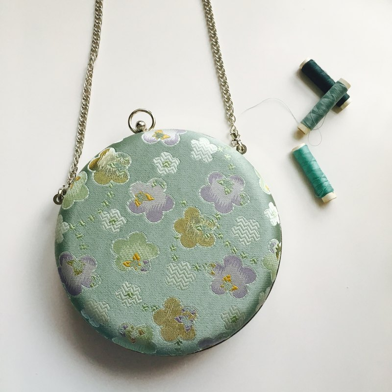 Bagel Bag - Japanese Green Flowers