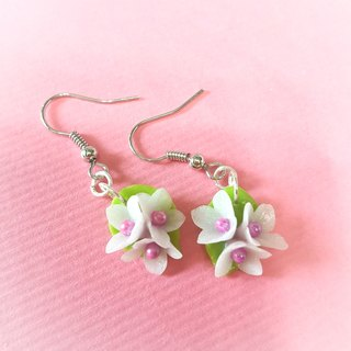 Spring earrings on ear / ear hook / ear clip