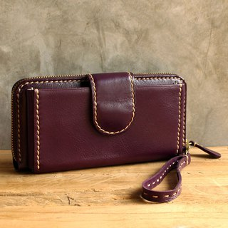 Wallet - Delight - Purple (Genuine Cow Leather) / 皮包 / Leather Wallet / 钱包