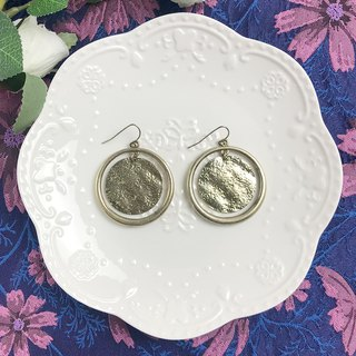 Vintage Metal Circle Antique Earrings BLA075