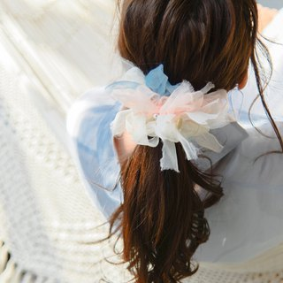 Pastel : Blooming Sakiami Colourful Hair Scrunchy / Hair Accessory / Hair Tie