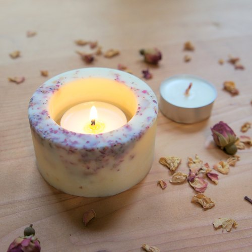 Rose Brick Candle Holder / Candlestick