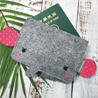 Balloon-Elephant Passport Set (Pink Dot)