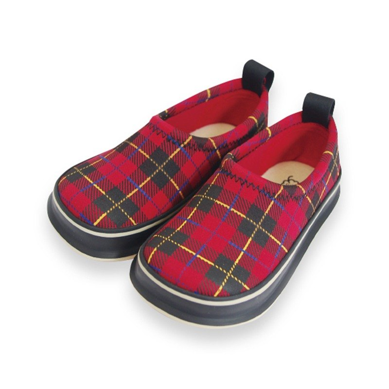 Japan SkippOn Children's Casual Shoes - Wild Red Plaid