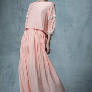 YUWEN pink orange dress