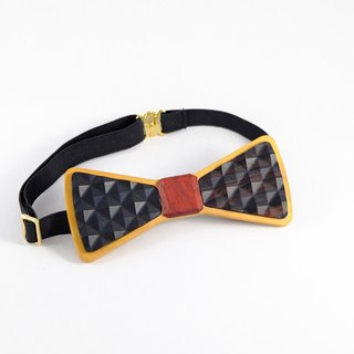 Wood Bow Tie Wood Bow Tie 3D WOOD TIE Milimit Creative Fashion Classic Black
