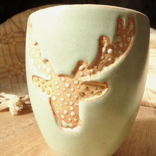 Pottery Cup - Deer King